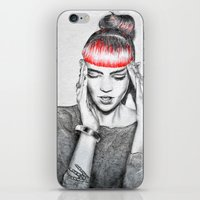 grimes iPhone & iPod Skins featuring Grimes by Eric Magnussen