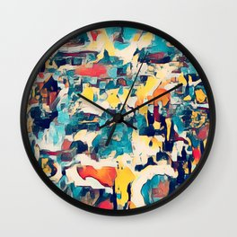 All oVER the PLACE Wall Clock