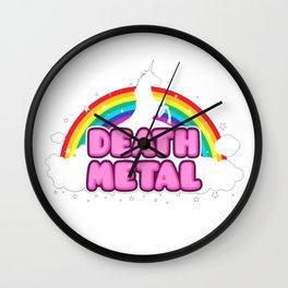 HEAVY METAL Funny Unicorn - Rainbow Mosh Parody Design) T-Shirt Wall Clock