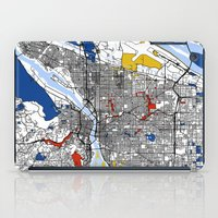 portland iPad Cases featuring Portland map by Mondrian Maps