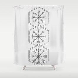 Three runes Shower Curtain