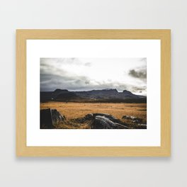 A Church of Iceland.    Mountain Shots.    Rocks and Adventure.    MadaraTravels Framed Art Print