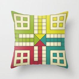 Ludo Game Throw Pillow