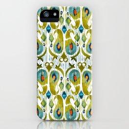 indian cucumbers balinese ikat print mini iPhone Case