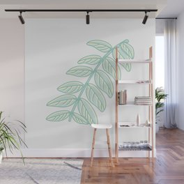 Pinnated Compound Leaves Illustration Wall Mural
