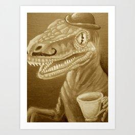 sepia velocidapper Art Print