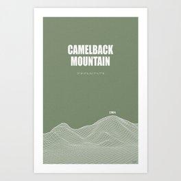 Camelback Mountain (green) Art Print