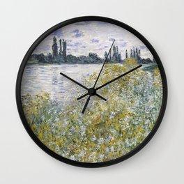 Île aux Fleurs near Vétheuil Wall Clock