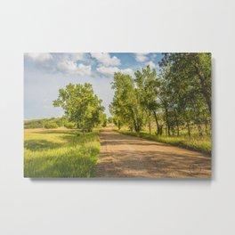 Summer Country Road, Fort Clark, North Dakota 1 Metal Print