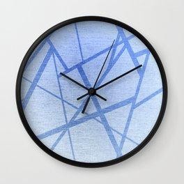 Light Blue Geometric Pattern Wall Clock