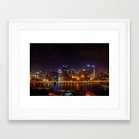 pittsburgh Framed Art Prints featuring Pittsburgh by Zachary DiBeradin