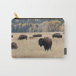 Grand Teton Bison Photography Print Carry-All Pouch