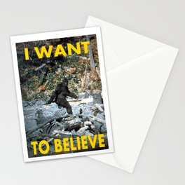 I want to believe Bigfoot Stationery Cards