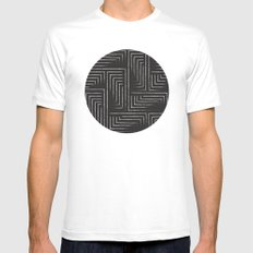 Lose To Win White MEDIUM Mens Fitted Tee