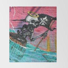 Sailing Skeleton  Throw Blanket