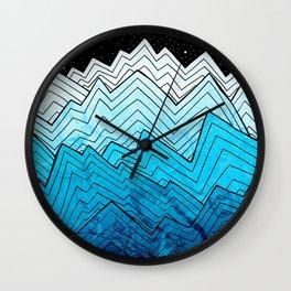 A rough winter's sea Wall Clock