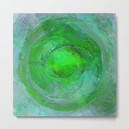Mandala Abstract Green and Blue Design 715 Metal Print