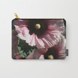 Tall Red and White Flowers Velvia  Carry-All Pouch