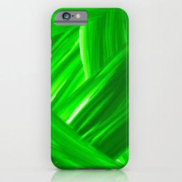 Woven 10 Kelly Green - Abstract Art Series iPhone Case
