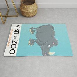 Visit the Zoo Rhino Rug