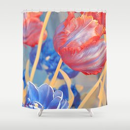 Floral Abstract 119 Shower Curtain