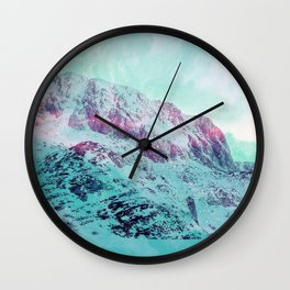 Pastel Magic Mountains Wall Clock