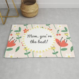 """Happy Mothers Day - """"mom you're the best""""  Rug"""