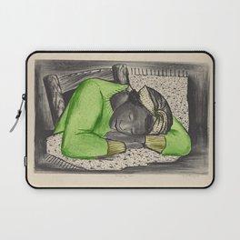 Vintage Folk Art - Sleeping Girl - Laptop Sleeve