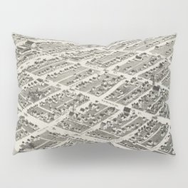Vintage Pictorial Map of Oklahoma City (1890) Pillow Sham