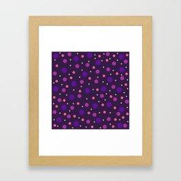 Classic Retro Dots 02 Framed Art Print