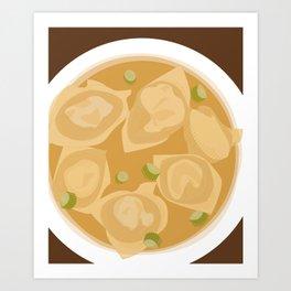Wonton Soup Art Print