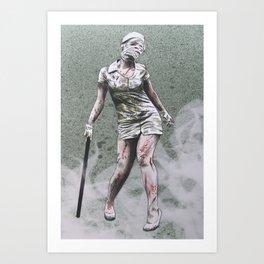SILENT HILL ZOMBIE NURSE Art Print