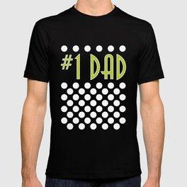 Polka Dot #1 Dad - light T-shirt