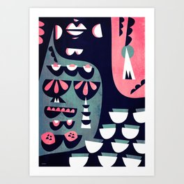 Cocktail silhouette Art Print