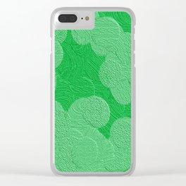 Light Green on Dark Green Clear iPhone Case