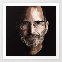 steve jobs Art Prints featuring Steve Jobs by Misha Libertee