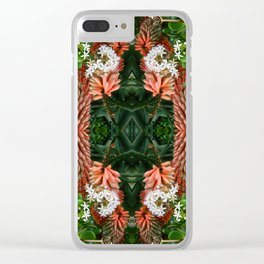 Agave and Jade Clear iPhone Case
