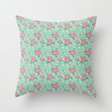Vintage Roses Pattern Throw Pillow