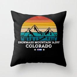 SNOWMASS MOUNTAIN Colorado Throw Pillow