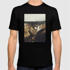 Yellowstone Falls Black Mens Fitted Tee MEDIUM