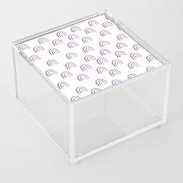 Lilac Lavender Rainbows Acrylic Box