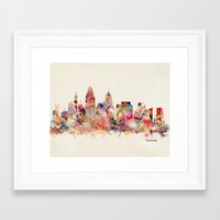 cincinnati Framed Art Prints featuring cincinnati ohio  by bri.buckley