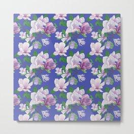 Magnolia Floral Print Metal Print