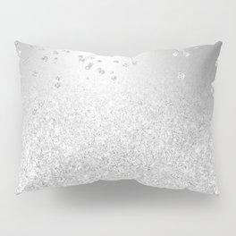 Modern silver glitter ombre metallic sparkles confetti Pillow Sham