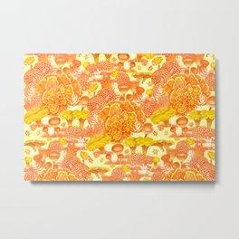 Welcome to my fungi world - yellow Metal Print