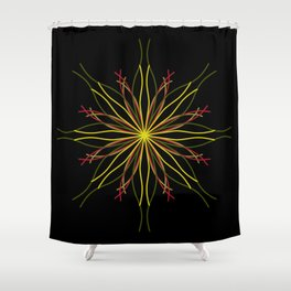 Kaleidoscopic Light Shower Curtain