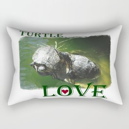 Turtle Love Rectangular Pillow