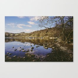 boat moored. ullswater, lake district, uk Canvas Print