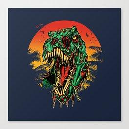 Zombie T-Rex Canvas Print