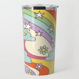 retro hippie boho print  Travel Mug